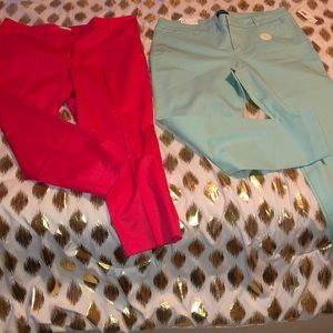 Pink and Turquoise Pixie Pants